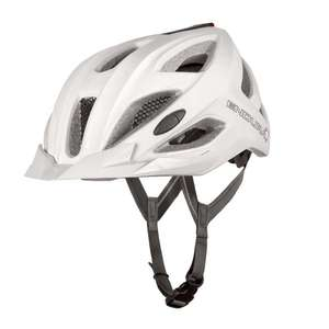 Endura Xtract Helmet with USB rechargeable LED rear light  / Removable Visor - White Only - £20 @ Evans Cycles - Free C&C