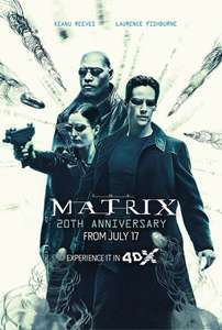 (4DX) The Matrix: 20th Anniversary (4K Restoration) in Cineworld - adult tickets from £16
