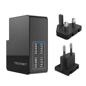 TeckNet PowerZone C3 27W 4 Port USB Mains Wall Charger - UK / EU Adapters £6.99 Prime / £11.48 Non Prime Sold by BLUETREE and FBA