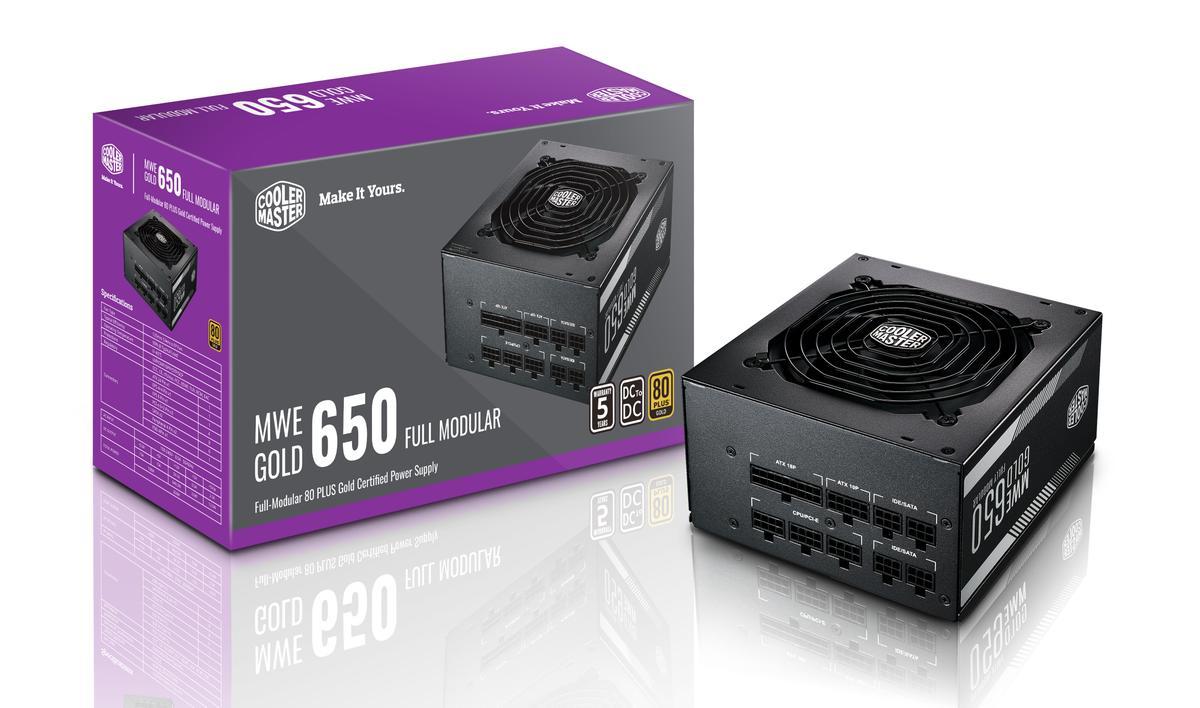 Cooler Master MPY-6501-AFAAG-UK MWE 650 Gold Full Modular, 80+ Gold Certified 650W Power Supply - £69.99 @ Amazon