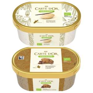 Carte D'or Organic Coffee Ice Cream 450ml / Vanilla @ Heron Foods - 2 For £1 Or 69p Each
