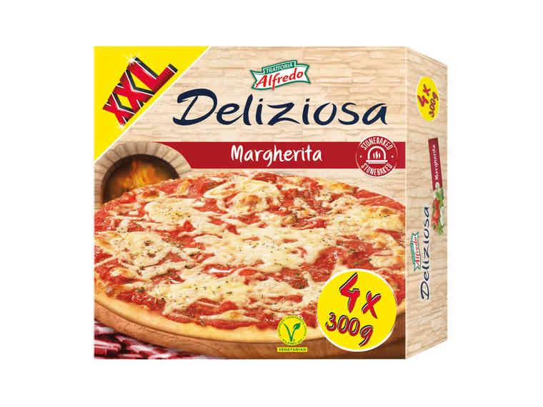 Lidl XXL Trattoria Alfredo Deliziosa Margherita Pizza 4x300g £2.29 @ Lidl