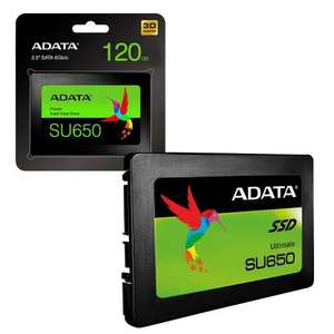ADATA SU650 120GB 3D NAND 2.5 inch SATA III High Speed Internal SSD Solid State Drive £15.99 @ 7dayshop