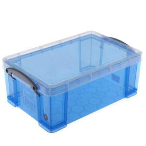 Really Useful 9L Plastic Storage Box in Blue, Pink, Grey or Clear were £6.50 now £4.87 @ Hobbycraft online or in-store Free C&C over £10.00