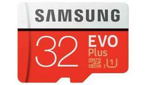 "Samsung EVO Plus 95MBs Micro SDXC Memory Card - 32GB x2 (""Opened - never used"") - £7.99 @ eBay / stockmustgo"