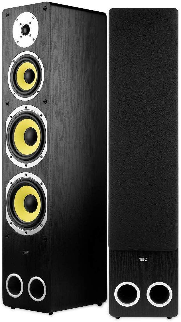 Tibo Edge 450 Black Floorstanding Speakers (Pair) - £99 @ Richer Sounds with code FLASH50