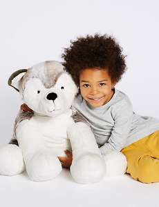 M&S Large Husky Dog Toy reduced to £15 from £39.50 (free C&C)