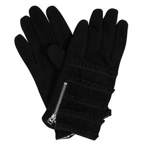 Frill Layer Black Suede Gloves £8 @ Oliver Bonas  (free C&C over £20 or £2.95 delivery)