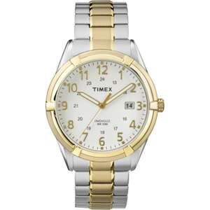 Timex Men's TW2P89300 Easton Avenue 39mm Date Indiglo Stainless Steel Expansion Band Quartz Watch £12.02-Less With Fee-Free Card @ Amazon US