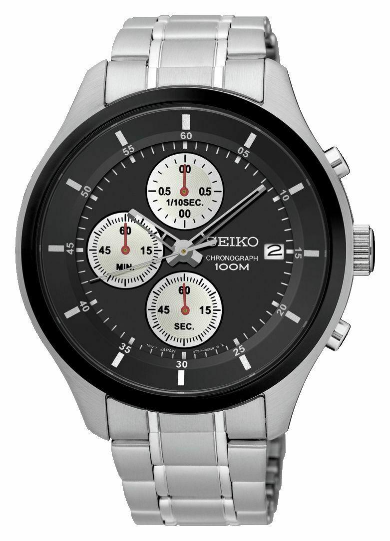 Seiko Men's Chronograph Black Dial Stainless Steel Watch SKS545P1 £57.99 @ Argos Ebay Clearance