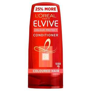 L'oreal Elvive Colour Protect Coloured Hair Conditioner 500Ml In-store and online £2.75 @ Tesco