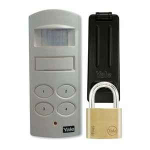 Yale P-SHPK-01 Wireless Shed and Garage Alarm with Padlock and Hasp £5.40 @ Homebase