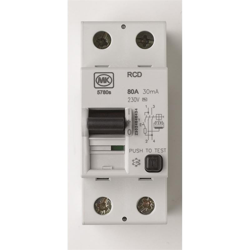 MK RCD - 80 A 30 MA £15 Homebase