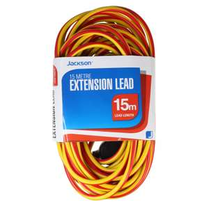 15m Single Socket Extension Lead £3.29 Homebase (C&C)