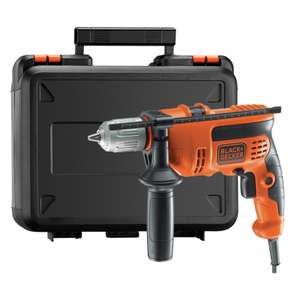 Black+Decker 600W Percussion Hammer Drill with Kit Box for £19.11 @ Homebase (instore)