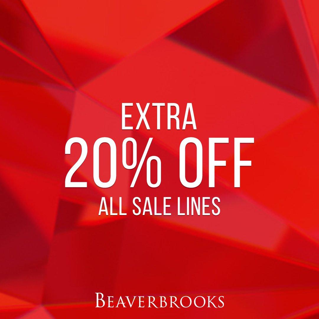 Beaverbrooks Extra 20% off all Sale Lines @ Beaverbrooks