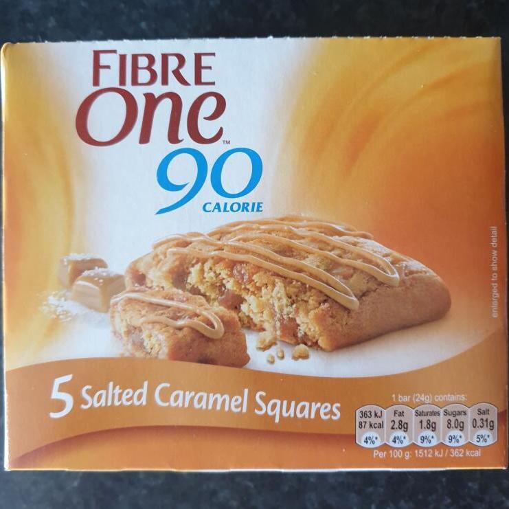 Fibre One salted caramel bars - 5 bar pack - £1 instore @ Home Bargains