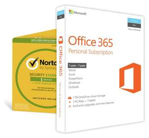 Microsoft Office 365 Personal & Norton Security 1 Device - £39.99 @ Argos