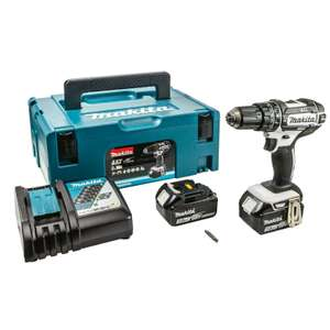 Makita DHP482RFWJ 18V LXT Combi Drill with Fast charger, carry case, and 2 x 3.0Ah 18V Li-ion batteries £120.40 at Homebase (Free C&C)
