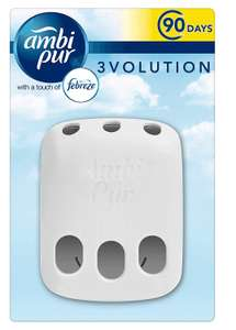 Febreze with Ambi Pur 3Volution Air Freshener Plug-In Diffuser (Scents Sold Seperately) - Pack of 3 @ Amazon £3.50 Prime £7.99 Non Prime