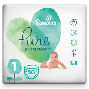 Pampers Pure Protection Cotton Nappies 50 Pack - £2.80 @ Tesco