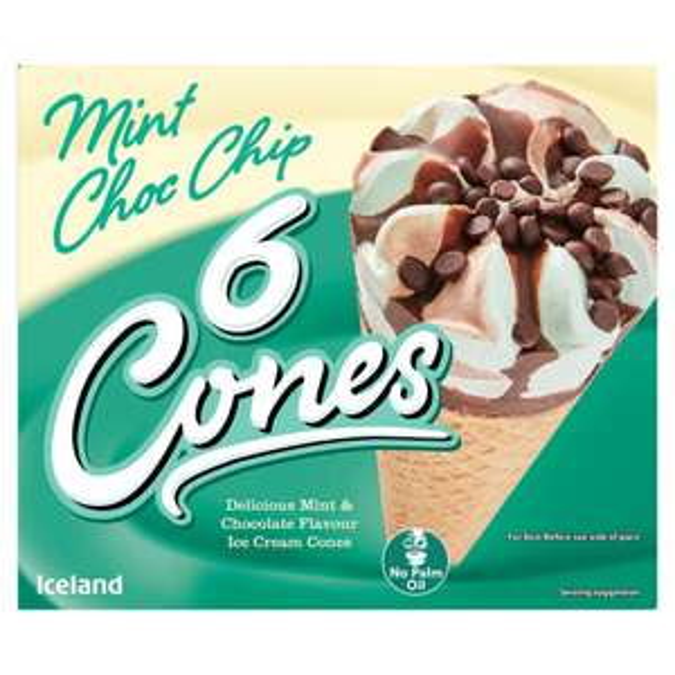 Mint Choc Chip Cones X 6 £1 @ Iceland