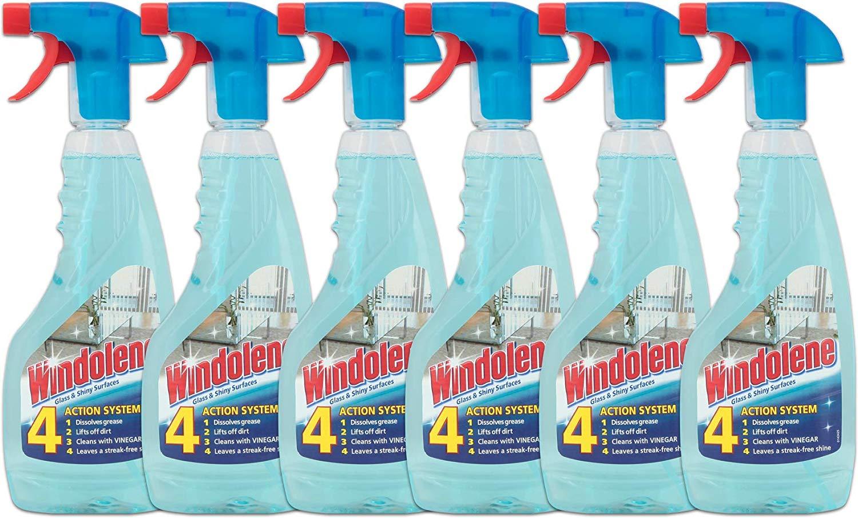 Windolene Window Cleaner Spray 500ml, Pack of 6 - £6 (Prime) £10.49 (Non Prime) @ Amazon