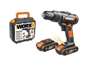 WORX WX366.5 18V 20V MAX Cordless Combi Hammer Drill with x2 Batteries - £59.99 @ Amazon