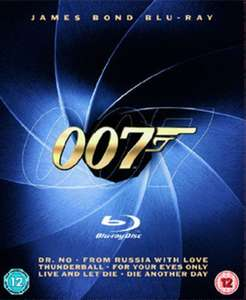 James Bond 6 Film Blu-ray Collection Pre-owned £7.46 delivered with code @ Music Magpie