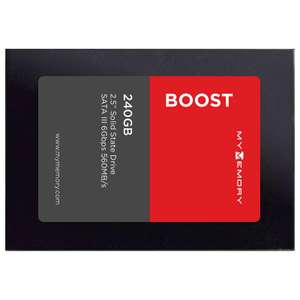 """MyMemory Boost Internal SSD Drive 2.5"""" SATA III 240GB - 560MB/s, 540MB/s for £21.56 Delivered with Code @ MyMemory"""