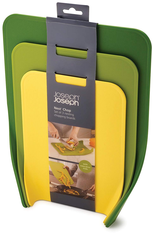 Joseph Joseph Nest Chop Chopping Boards, Plastic, Green, Set of 3 £6 + £4.49 delivery (Non Prime) @ Amazon