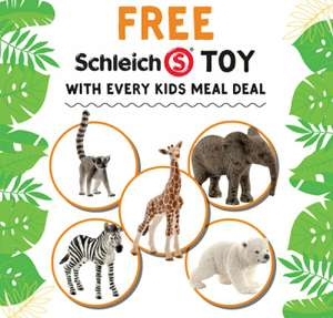 Free Schleich Toy with every kids meal deal @ Giraffe