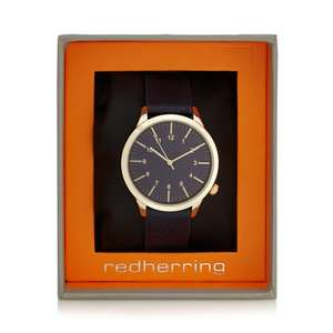 Red Herring Navy Analogue Grained Strap Watch Was £25 now £7.50 delivered @ Debenhams