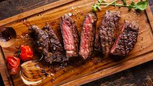 Pack of 2  28 day mature rump steaks 400gms £2.99 instore at Aldi