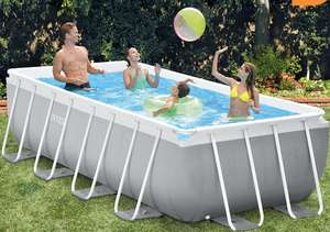 Intex 4m Rectangular Prism Frame Pool with Filter Pump and Ladder - £249.99 @ Costco