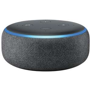 Amazon Echo Dot (3rd Gen) + 10 Pack of 6 Nutella B Ready Bars  (or other items) + Free 2 Hour Delivery - £20.79 for New Prime Now Customers