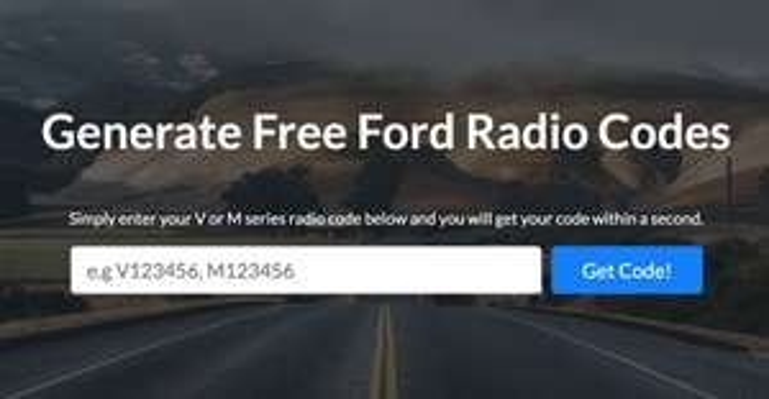 FREE - Ford Radio Code Unlock Code Generator