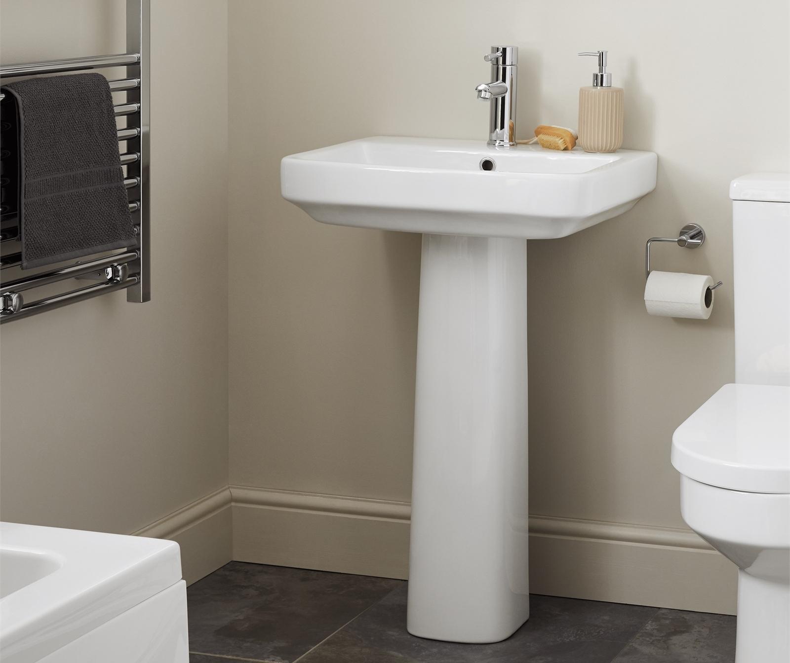 Mondella Cadenza Pedestal Basin - £24 or Maestro Pedestal Basin - £26.40 /  Up to 70% off  Mondela Range @ Homebase  (More in OP)