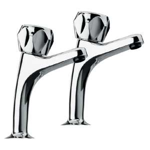 Estilo Pillar Twin Handle Taps - Chrome £5.40 at Homebase - free C&C