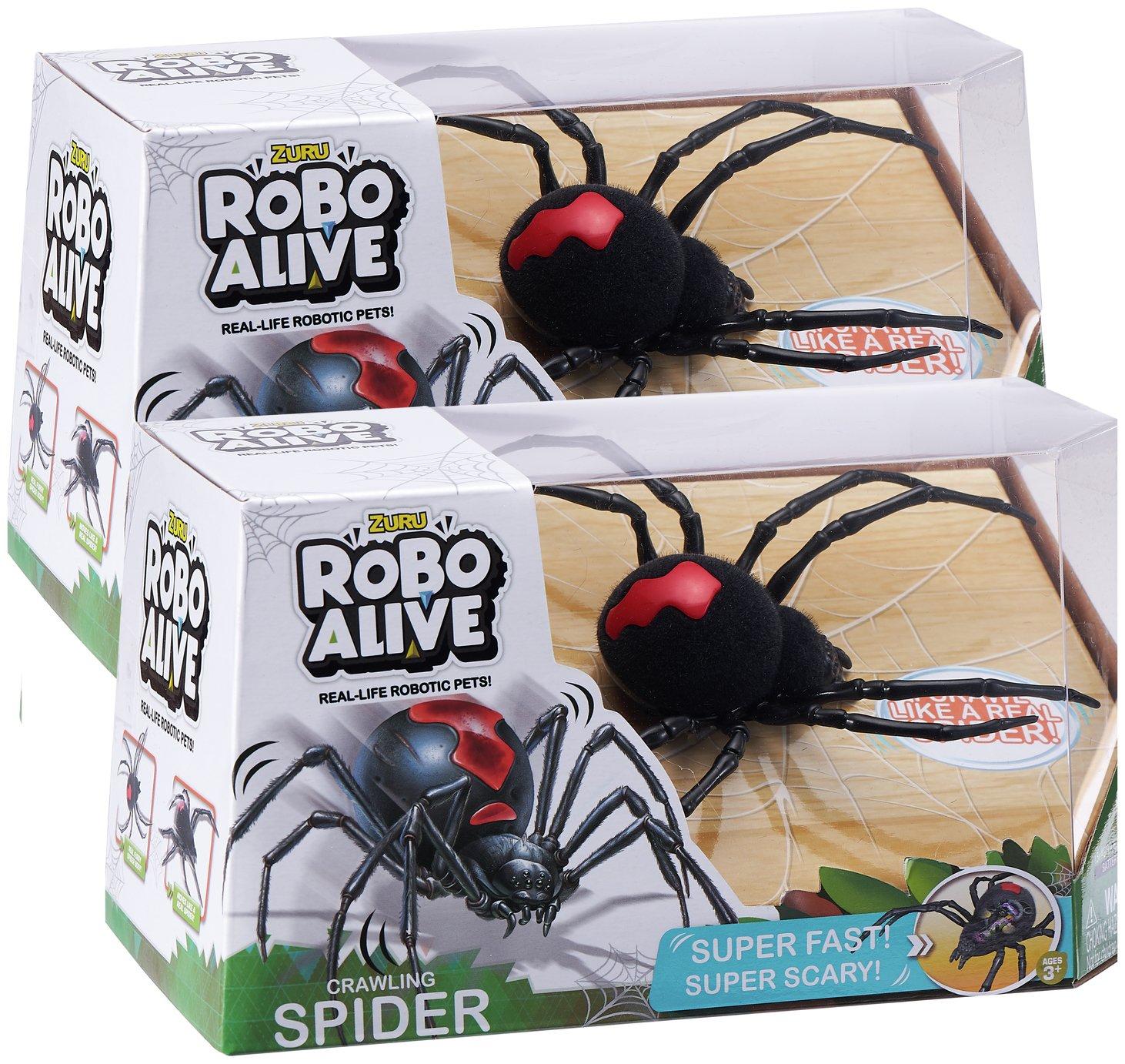 Zuru Robo Alive Crawling Spider Twin Pack (To terrify someone special) £4.99 @ Argos