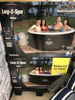 Lay-Z-Spa Miami Inflatable Hot Tub - £230 at Tesco Osterley