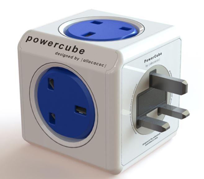 PowerCube Original USB 4-way Socket Wall Adaptor with Dual USB £3.90 @ Homebase