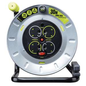 Masterplug 4 Gang 10A Open Reel with Safety RCD Plug - 30m £9.90 @ Homebase Instore only