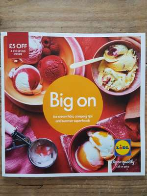 £5 off £30 voucher inside Lidl brochure