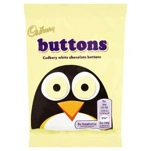 Cadbury White Chocolate Buttons (Pack of 24) £4.22 @ Amazon - Add on item
