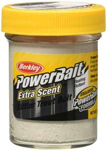 Berkley Powerbait Select Glitter Trout Bait Worm Pearl, 50 g now £4.95 add-on item at Amazon