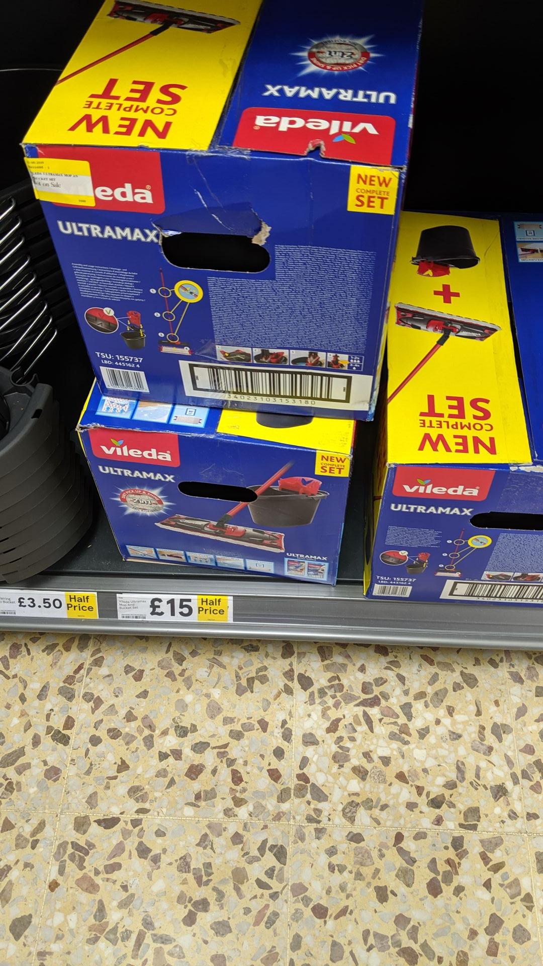 Vileda Ultramax Mop and Bucket Set Half Price - £15 @ Tesco Royston