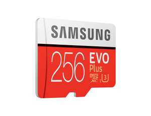 Samsung Mobile UK 256 GB 95 MB/s Class 10 U3 Memory Evo Plus MicroSD card with Adapter - £45.92 Dispatched from and sold by Olixar