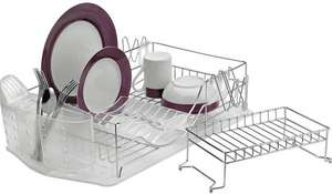 Half Price Argos Home Deluxe 2 Tier Dish Rack - Chrome - £13 + Free C&C @ Argos