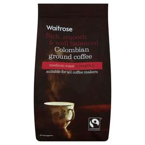 Ground/Bean bags (227g) includes Colombian, Costa Rican, Americano, House blend (£3.30 each) - Two for £4 instore @ Waitrose
